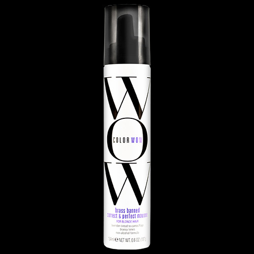 Image of Color Wow Brass Banned Correct & Perfect Mousse for Blonde Hair 200ml