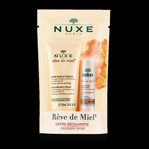 Image of Nuxe Reve de Meil Hand Cream Dry Skin with Lip Stick 30ml