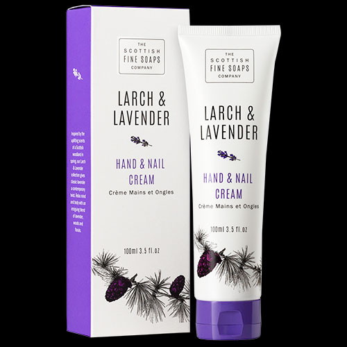 Image of Scottish Fine Soaps Larch and Lavender Hand and Nail Cream 100ml
