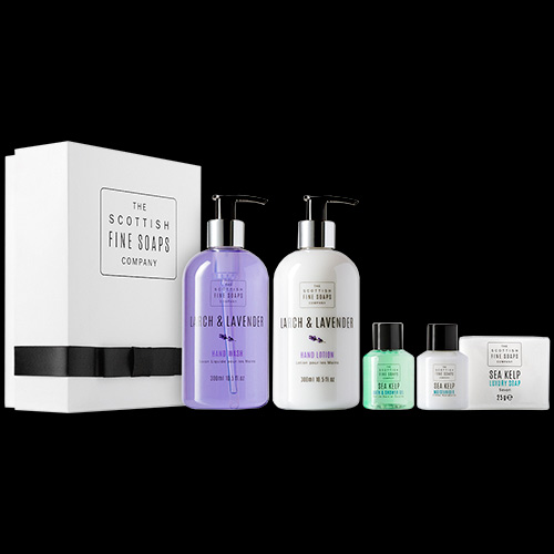 Image of Scottish Fine Soaps Larch and Lavender Hand Care Set